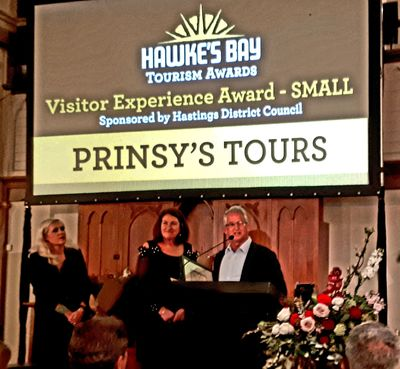 Prinsy's Tours exclusive private wine tours Hawkes Bay win award