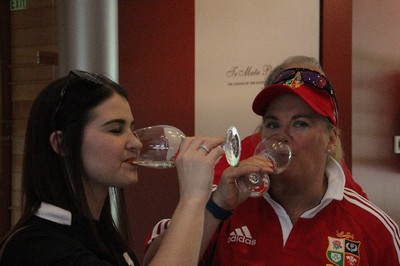 Wine tasting with Lions Tour fans, Hawkes Bay NZ