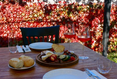 Winery platters on a guided transfer cross-country wine tour Martinborough to Hawkes Bay